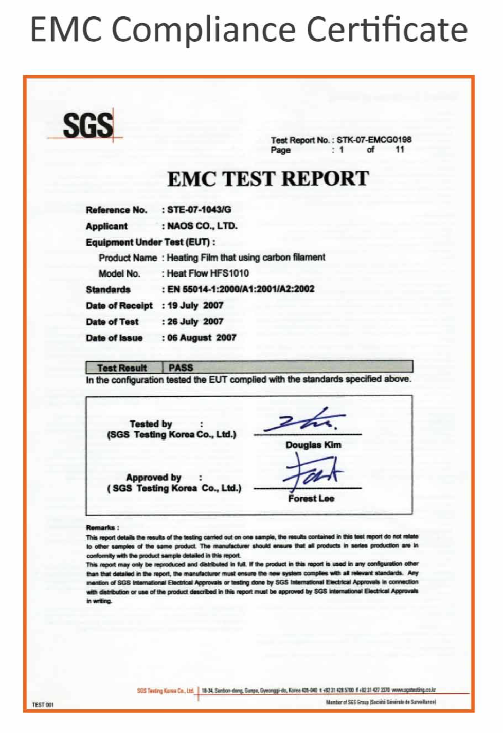 Cert EMC